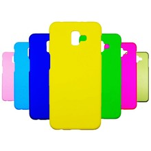 J8 Plus Case on For Coque Samsung Galaxy J4 J6 2018 Cover for Fundas Covers Hard Plastic PC Phone