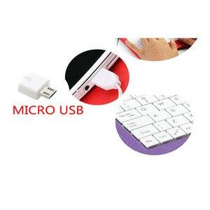 Чехол из искусственной кожи с подставкой и беспроводной Bluetooth-клавиатурой Micro USB для Android