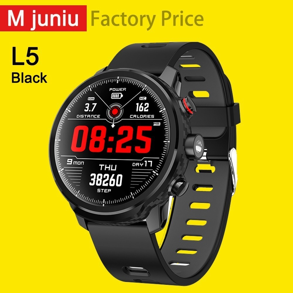 <font><b>L5</b></font> <font><b>Smart</b></font> <font><b>Watch</b></font> <font><b>Men</b></font> <font><b>Ip68</b></font> Waterproof Standby 100 Days Multiple Sports Mode Heart Rate Monitoring Weather Forecast Smartwatch clock image