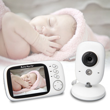 2019 New Arrival 3.2 Inch LCD Baby Sleeping Video Monitor 2.4G Wireless Audio Cam Night Vision Security Camera Babysitter VB603