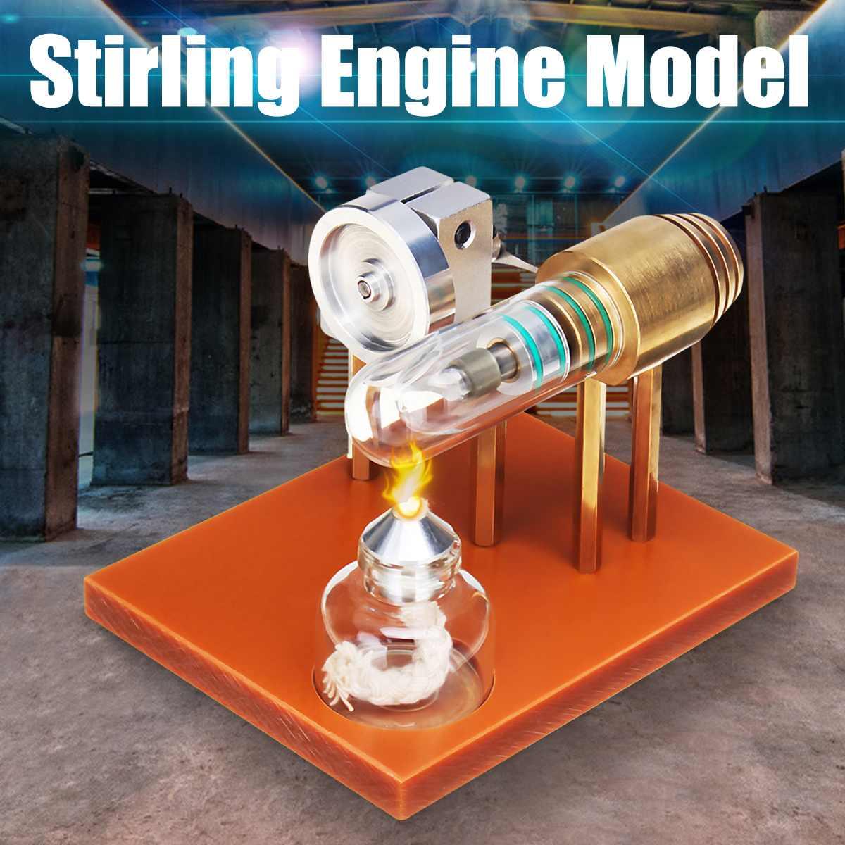 Mini modèle de moteur Stirling à Air chaud modèle d'expérience de physique de puissance de flux modèle de jouet de Science éducative pour les enfants