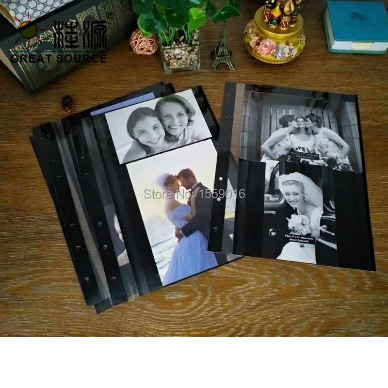 Adhesive Photo Album Leaf For A4 Binder Folder 15 Sheets Per Set Double Side Using