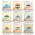 Mountaintop Printed Linen Pillow Cover Carseat Pillow Case Home Decorative Pillow cases Soft Pillow Case Home Textile