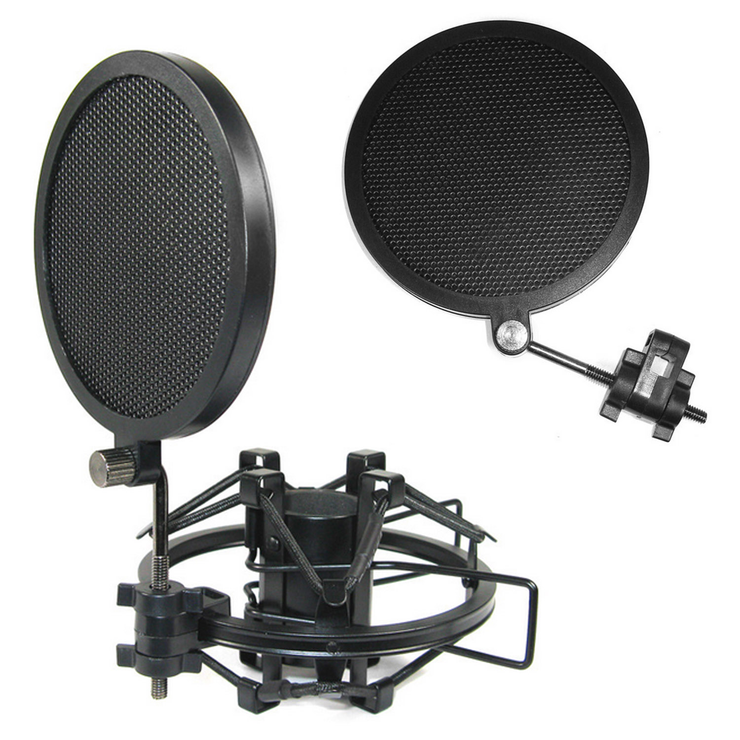Besegad Double-layer Iron Mesh Microphone Mic Wind Screen Anti Pop Filter For Studio Recording Video Chat Broadcasting