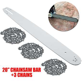 """20 Inch Chainsaw Guide Bar with 3pcs Saw Chain 3/8 72DL .63"""" For STIHL MS290 MS291-310-340-360-380-391-440"""
