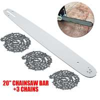 20 Inch Chainsaw Guide Bar with 3pcs Saw Chain 3/8 72DL .63 For STIHL MS290 MS291 310 340 360 380 391 440