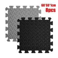 8PCS Soft EVA Rubber Foam Interlocking Floor Mats Kids Camping Gym Exercise Educational Play Pads Sport Tatami Doormat Floor