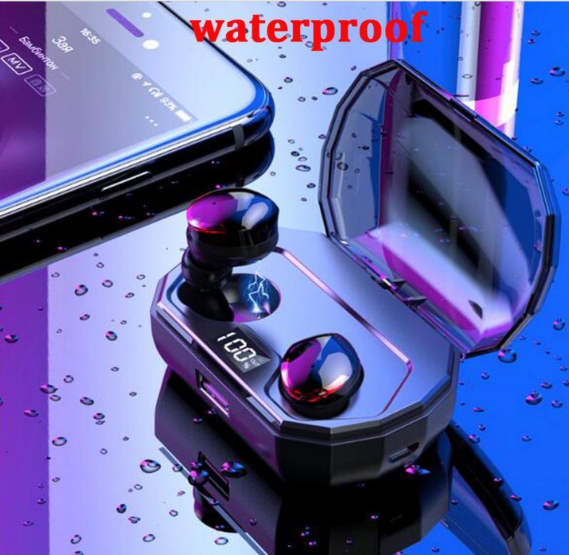 Étanche Bluetooth 5.0 casque TWS sans fil écouteurs jumeaux écouteurs stéréo MIC