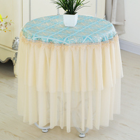 Round Lace Tablecloth Tea Table Cloth Table Skirt Round Lace Rural Tablecloth Wedding Home Partty Dinner Table Decor Cloth