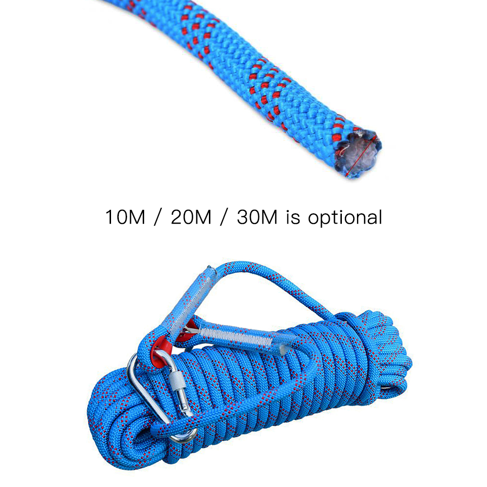 Climbing Escape Rope Fire Rescue Parachute Rope Outdoor Safety Rope 12mm 30m