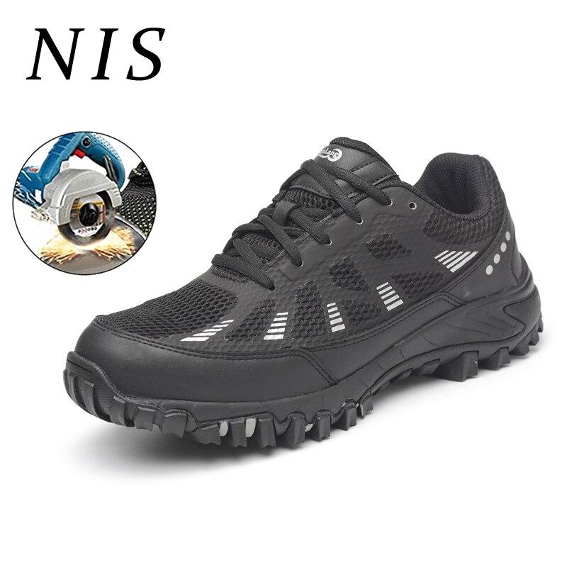 Anti Hommes Respirant Légers Intercalaire Sneakers Acier Atrego Nis Pare Toe Travaillent Randonnée Sécurité Chaussures balles Noir écrasement De qwftIv
