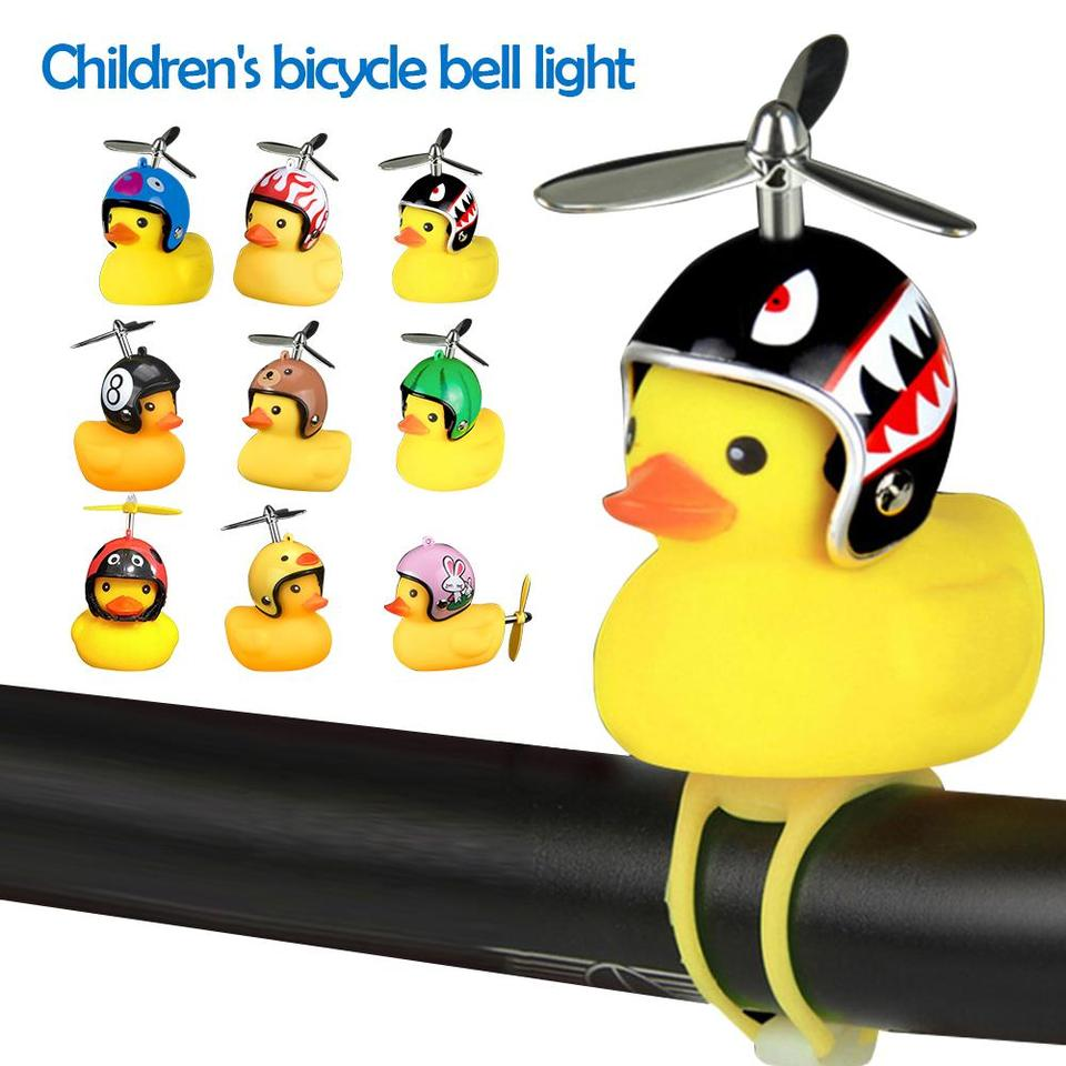 Bicycle Bells Cartoon Duck Head Light Shining Duck Handlebar Bicycle Accessories