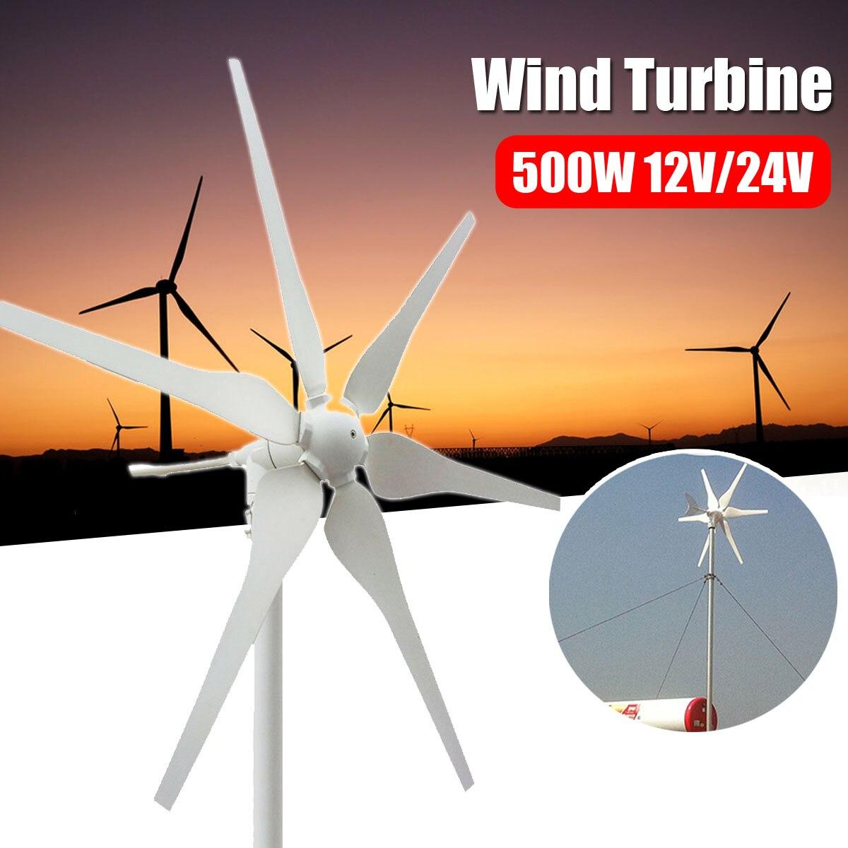 500 w 12 v/24 v Environnementale 6 Lames Mini Éoliennes Générateur D'énergie Miniature Vent Turbines Maison D'habitation avec Contrôleur