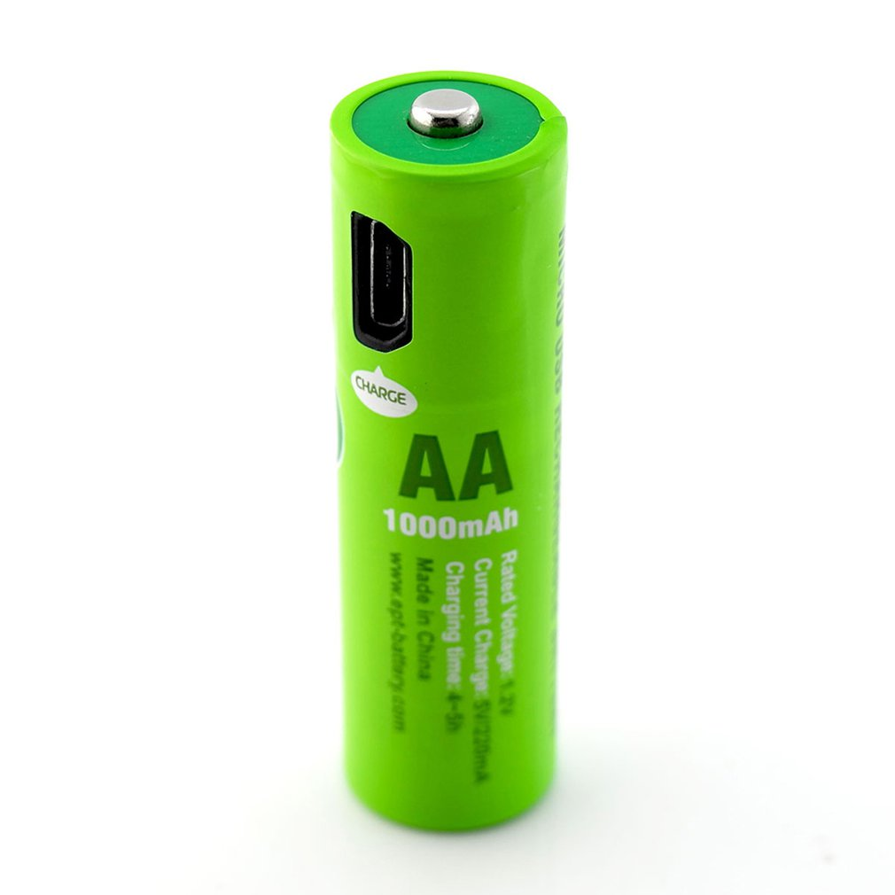 NiMH AAA Battery Built In USB Charging Port 1000mAh Short