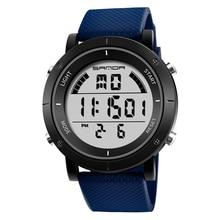 SANDA модные водонепроницаемые люминесцентные цифровые модные часы мужские спортивные уличные мужские часы
