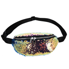 Fashion Girls Sequin Waist Bags Shiny Women Chest Sling Personalized Fanny Pack Summer Travel Money Phone Packs Ladies