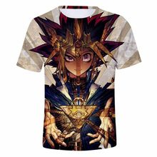 Aniem Yu Gi Oh Muto Yugi/ATEM Split T-Shirt 3D Printed Male Tshirt Short Sleeve Tee Shirts Summer Casual Tops Fans T Shirt(China)