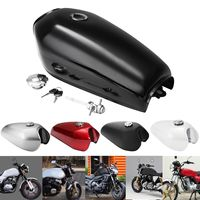 9L 2.4 Gal Motorcycle Fuel Oil Gas Tank Cafe Racer Vintage With Cap For Honda CG125