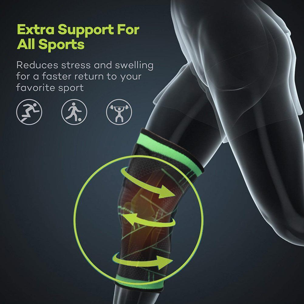 New Knee Sleeve Compression Fit Support Improved Circulation Compression Wear High Quality Fabrics Knee Protect For Sport