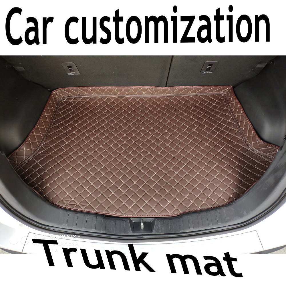 ZHAOYANHUA Custom fit High side car Trunk mats for Porsche 911 Cayenne Boxster Cayman Macan PanameraBoxs   Durable Boot Carpets