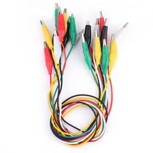 10pcs Alligator Clips Electrical DIY Test Leads Alligator Double ended Crocodile Clips Roach Clip Test Jumper Wire
