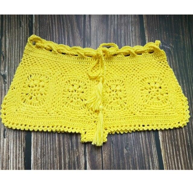 Boho Knit Crochet Beach Shorts 4