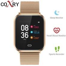 COXRY Smart Watch Men Watches Blood Pressure Heart Rate Pedometer Fitness Tracker Digital Bluetooth Sports Women Wristband