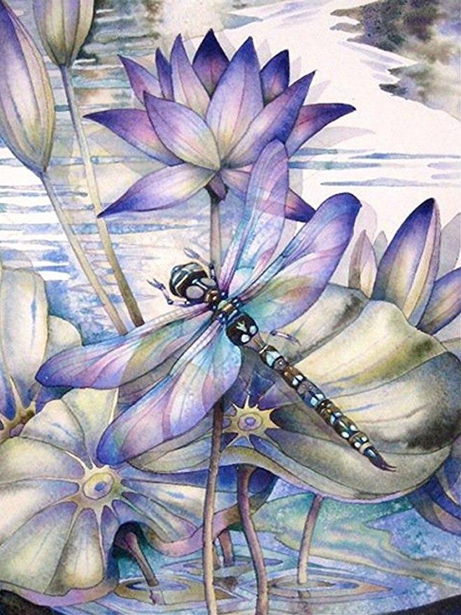Картинки со стрекозами и цветами, мужских