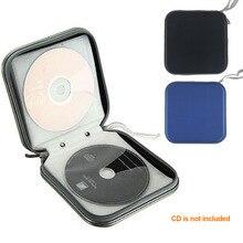 Пластиковый водостойкий Чехол-органайзер на 40 дисков, портативный чехол для CD DVD 15,5x15,5x5 см, пластиковый чехол для CD дисков