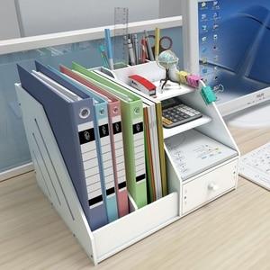 Image 4 - Органайзер держатель для книг, органайзер для журналов, настольный держатель для книг, хранение канцелярских принадлежностей, стеллаж для полки