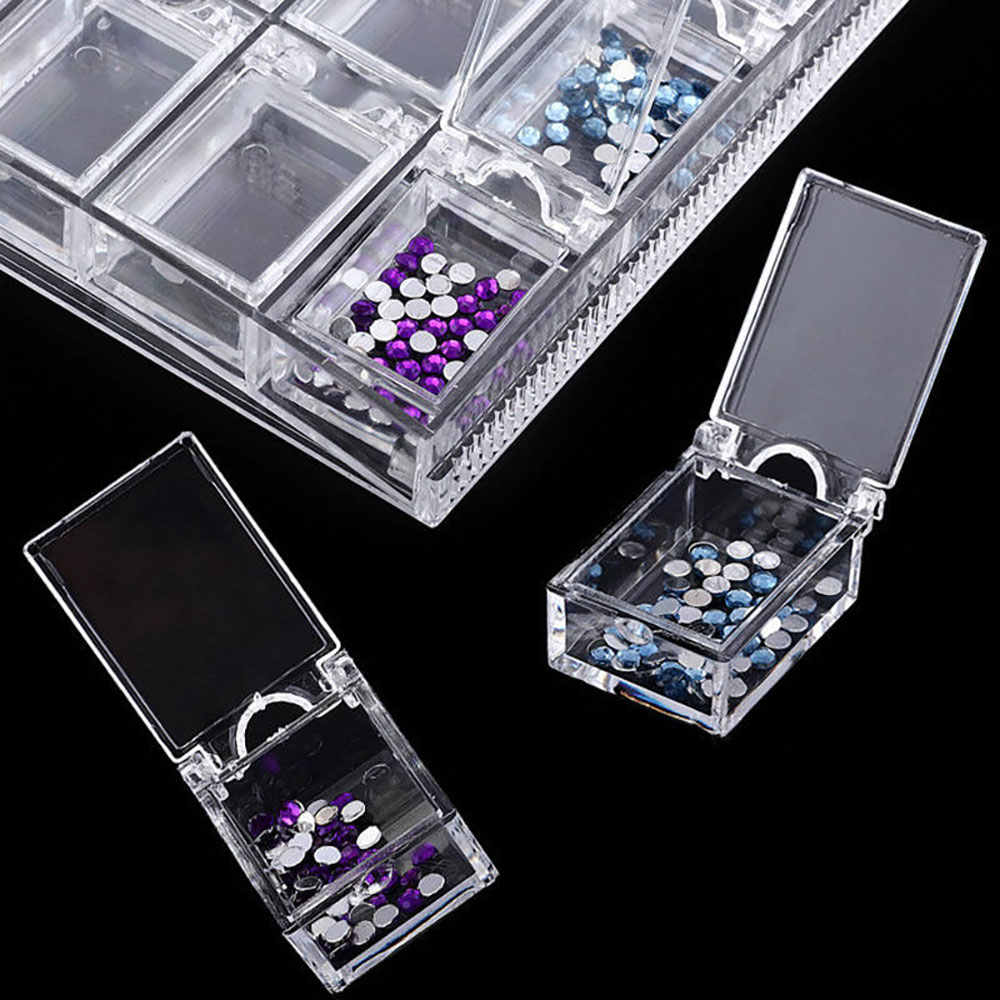 20 Slots Diamond Painting Accessories Nail Art Storage Box Plastic Display Case Organizer For Beads Diamond Painting Tools