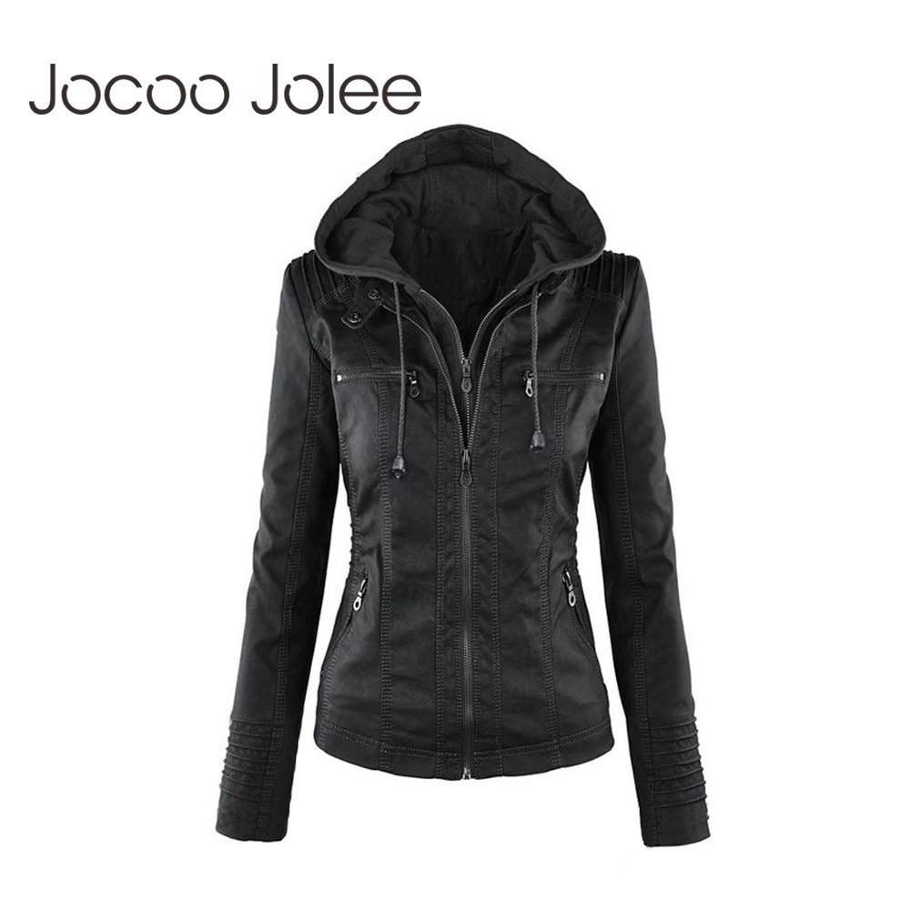 Jocoo Jolee Winter Women Casual   Basic   Coats Faux Leather   Jacket   Plus Size Ladies   Jackets   Waterproof Windproof Coats Female New