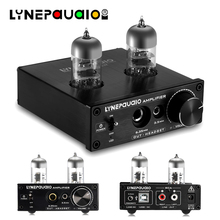 Mini Stereo Vacuum 6J9 Tube Amplifier Hi-Fi Preamp PC USB OTG Sound Card Tube Headphone Amp mini portable 6n11 tube profession headphone audio amplifier sound clear and bright can push 16 300ohm headset