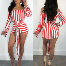 Womens Long Sleeve Mini Dress Casual Striped Belted Slash Neck Dresses Off Shoulder Sexy Casual Short Shirt Dress