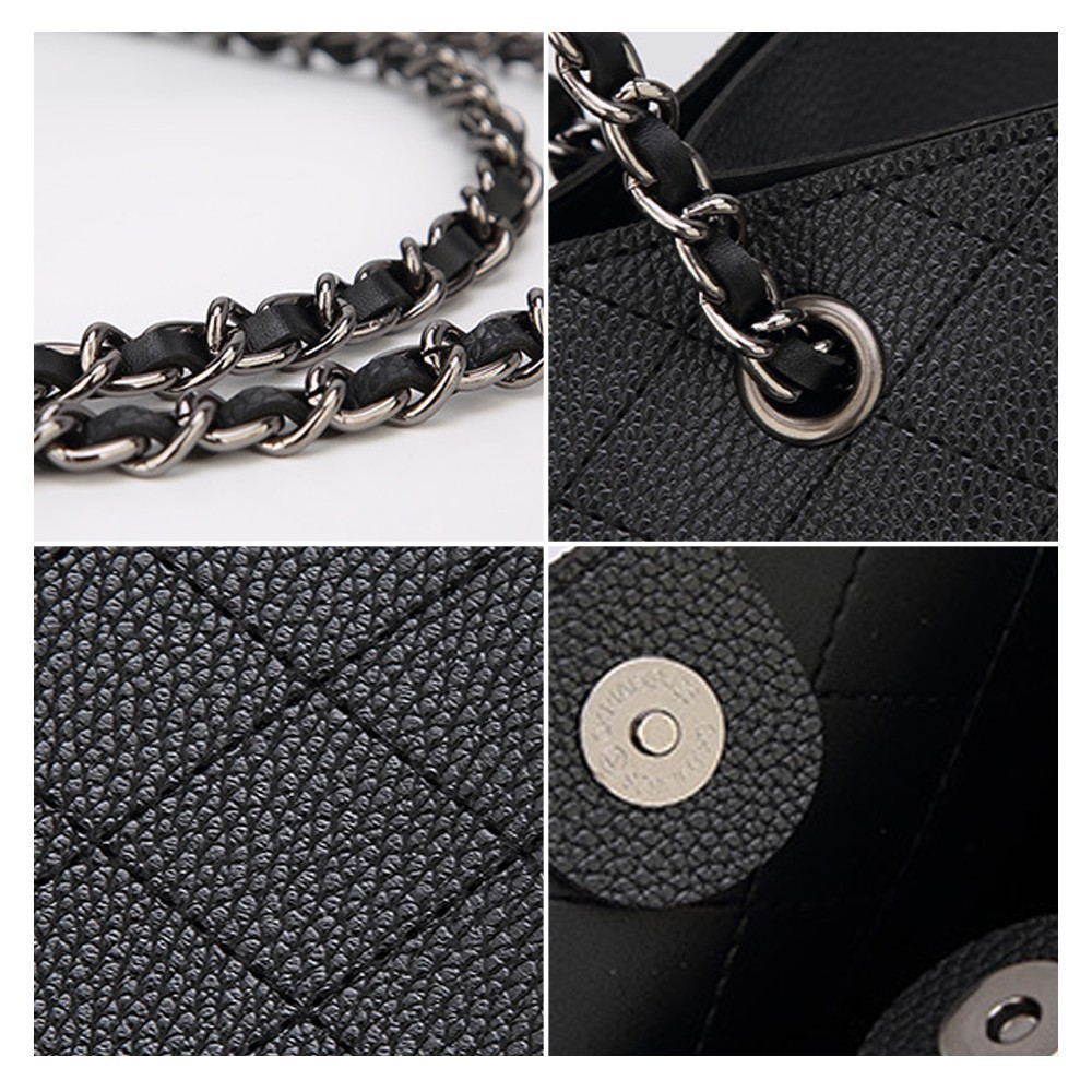 A Set Borse Borsa 2 brown Del Diamante Elaborazione Grandi Progettista Black Ttou Femminile Tracolla Pcs Tote Dimensioni grey Dell'unità Bag Di Lusso khaki Sacchetto Feminina Catena Bolsa wqnfpUY