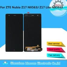 """5.5 """"م & سين ل ZTE النوبة Z17 NX563J شاشة الكريستال السائل شاشة + محول رقمي يعمل باللمس ل ZTE النوبة Z17 لايت NX591J استبدال العرض"""