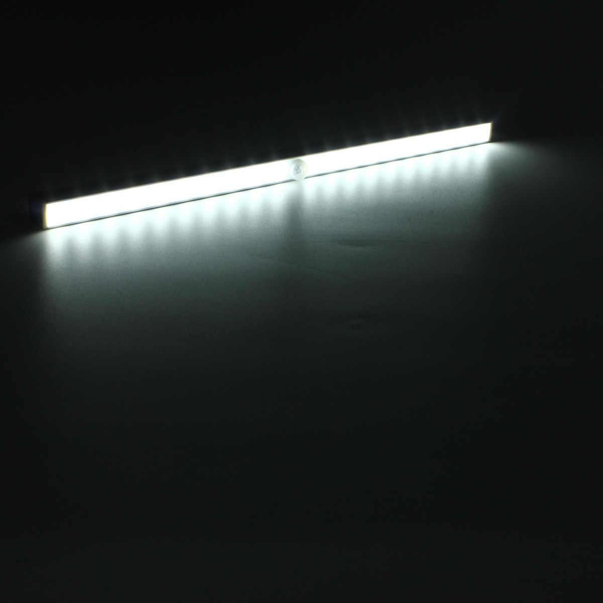 Światła podszawkowe LED 20 LEDs czujnik ruchu PIR bateria moc szuflada szafki światło szafa lampa wystawowa lampka nocna LED
