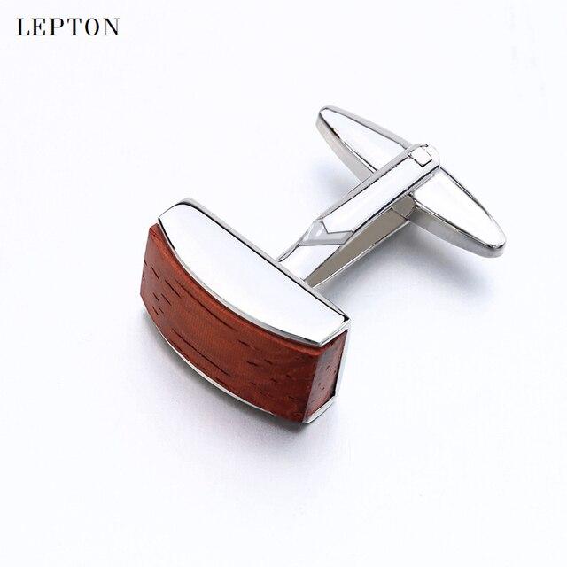 Запонки для мужчин квадратные деревянные модные деловые Подарочные