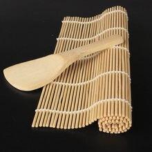 Onigiri rouleau de riz Gadgets de cuisine   Rideau pour Sushi, natte à Sushi, cuillère à Sushi, bricolage accessoires de cuisine, outils pour la fabrication de Sushi en bambou 1 pièce