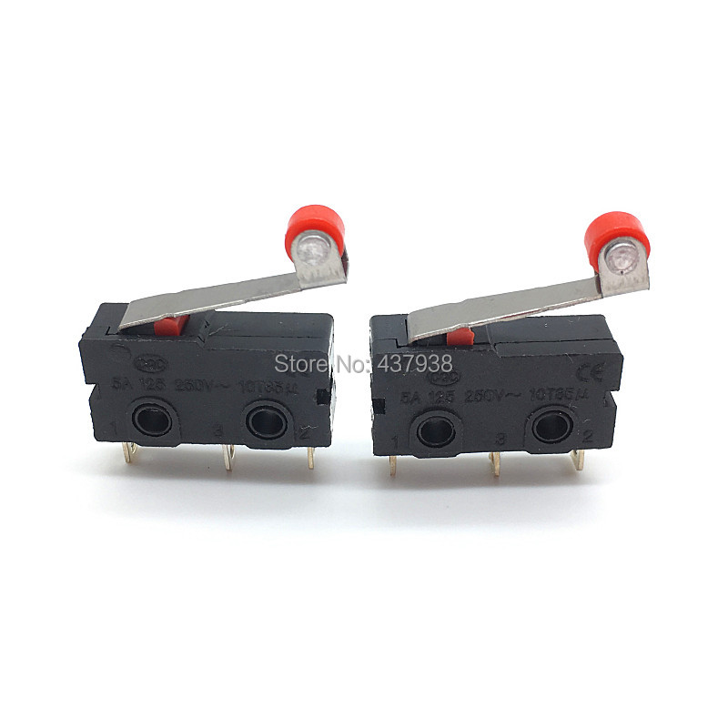 Image 5 - 10PCS Mini Micro Switch Roller ARC Lever SPDT Snap Action 3A 250V AC 5A 125V NC NO C With Pulley 3 Pins Stroke Limit Switch-in Switches from Lights & Lighting