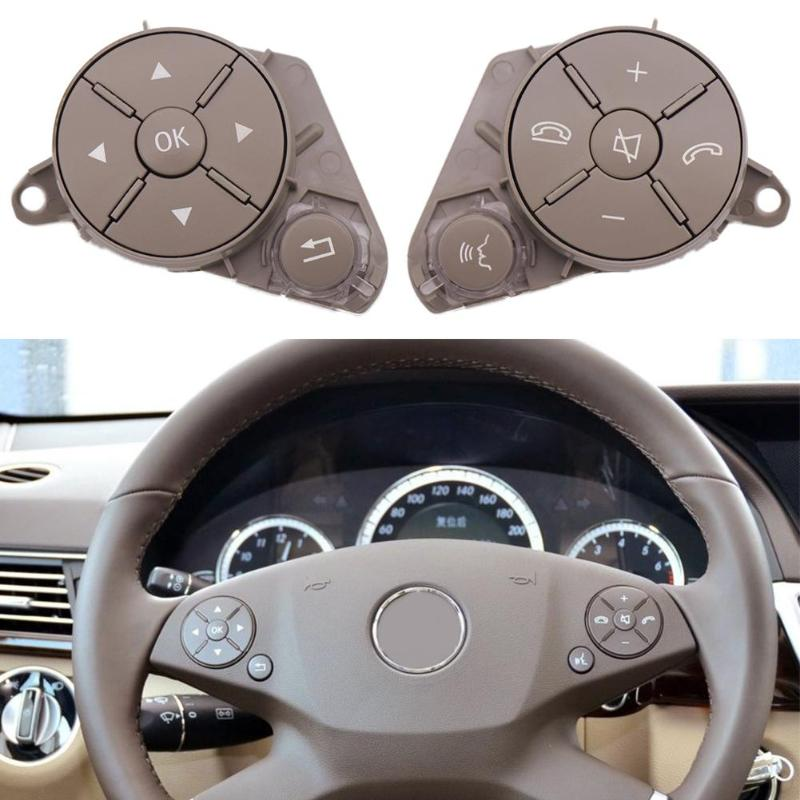 1 Pair Multifunction Left Right Steering Wheel Control Switch Buttons Remote Control Volume Button for W204