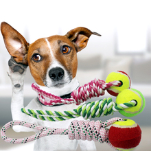 Pet dogs toys pet cotton rope towing toy Ball For Dogs tooth bites the chew Knot Dog Toys Large/small