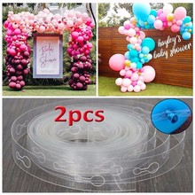 5M/Roll 110 Holes Latex Balloons Chain of Rubber Wedding Birthday Party Balls Backdrop Decorations Balloon Arch Decoration