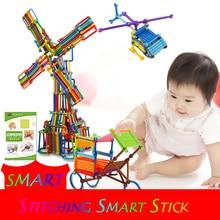 DIY Smart Stick Plastic Blocks Building Blocks  Imagination Creativity Educational Learning Toys Children Gift ysgo 120 projects integrated circuit building blocks learning
