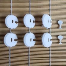 6 шт. крышка гнезда+ 2 шт. ключ для домашней вилки Защитная крышка защита от детей Детская безопасность Электрический Анти-Электрический шок розетка набор