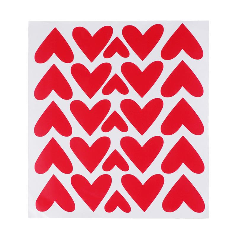 27 Love Heart Stickers Set Argent mur ordinateur portable verre voiture vinyle st-valentin