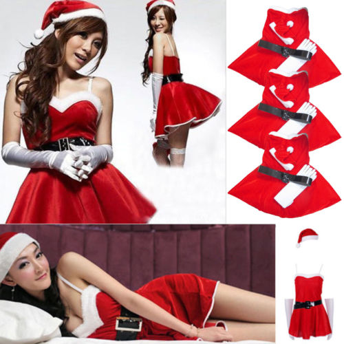 Sexy Women Christmas Santa Costume Dress With Hood Outfit Xmas Party Fancy  Dress-in Dresses from Women s Clothing on Aliexpress.com  6faf358bbd28