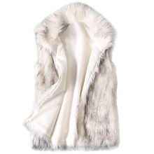 Womens Wool Vest Faux Fur Stand Collar Coat Jacket chalecos para mujer