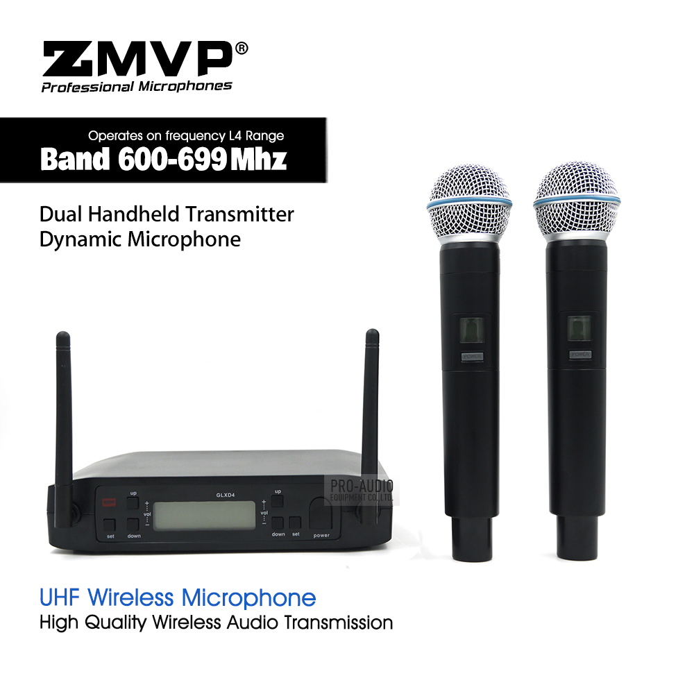 UHF Professional GLXD4 Wireless Microphone Cordless Live Vocals Karaoke System With BETA58A Dual Handheld Transmitter MicrophoneUHF Professional GLXD4 Wireless Microphone Cordless Live Vocals Karaoke System With BETA58A Dual Handheld Transmitter Microphone
