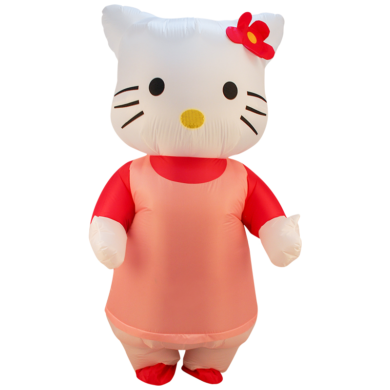Inflatable Hello Kitty Costume Men Women Adult Fancy Dress Halloween Party Cosplay Blowup Purim Carnaval Costumes